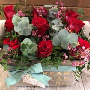 La Flor de mi Besana - Productos - Cestas de Rosas - Mediana